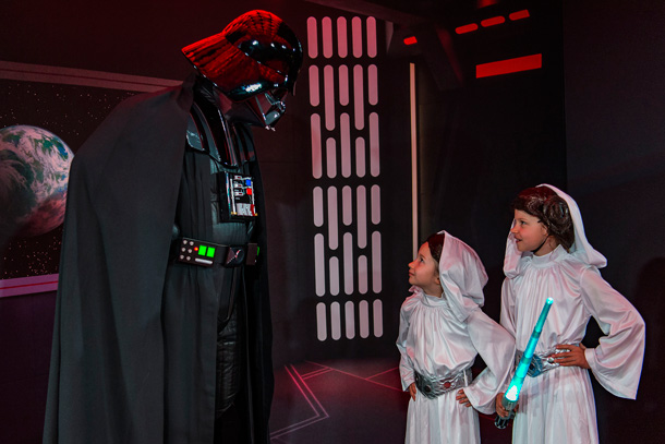 Guests encounter Darth Vader during Star Wars Day at Sea