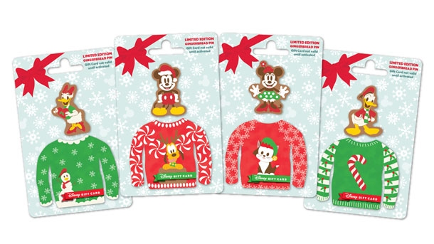 Get a Taste for the Holidays with New Disney Trading Pins with the Purchase of Holiday Sweater Disney Gift Card Designs