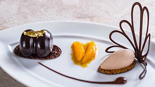 Peruvian Chocolate Orange Milk Chocolate Gelato, from Victoria & Albert's