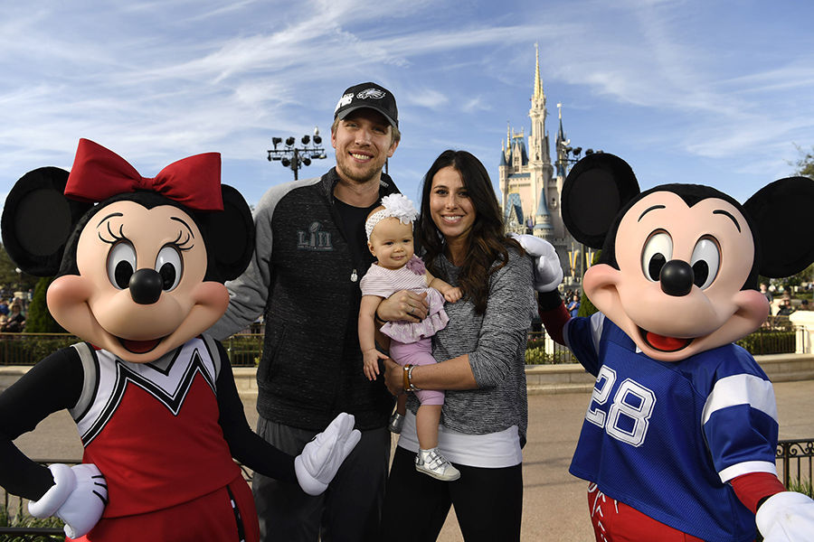 This Week in Disney Parks Photos: Philadelphia Eagles Star Nick Foles Celebrates at Walt Disney World