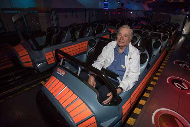 Bill Watkins, Ride Engineer Behind Space Mountain and Big Thunder Mountain Railroad, Visits Disneyland Park