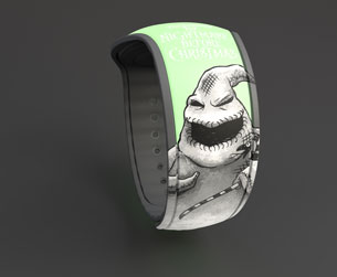 Oogie Boogie-themed black MagicBand