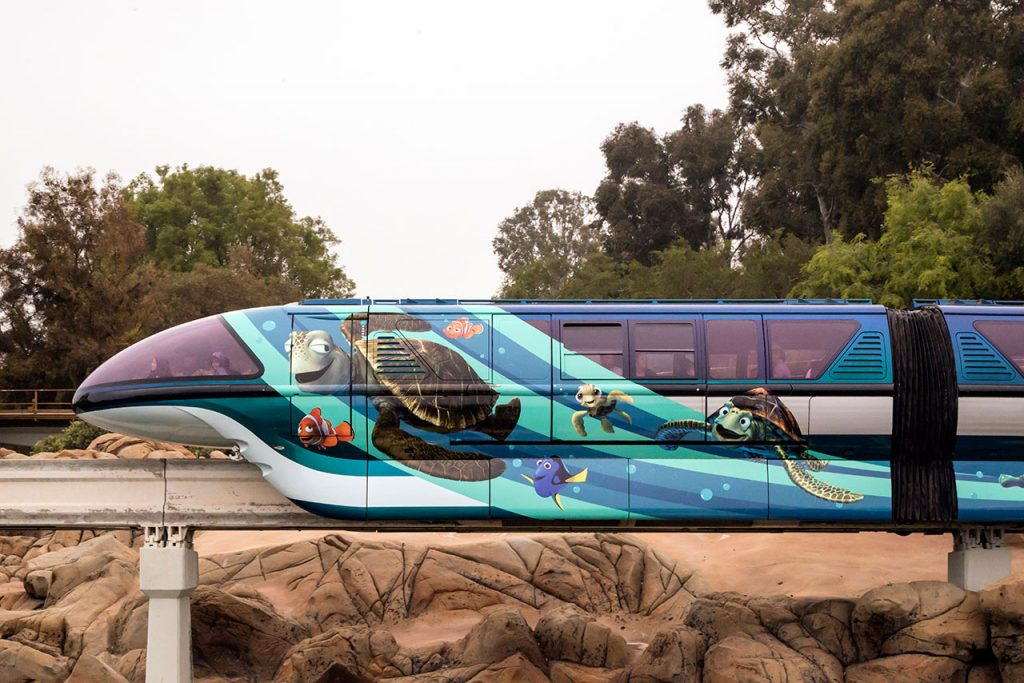 Pixar-Inspired Disneyland Monorail