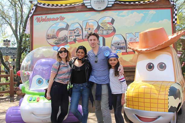 Zach Braff and Stars from ABC's 'Alex, Inc.' Visit Disneyland Resort