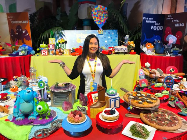 Disney Parks Moms Panelist Courtney enjoys Pixar Fest food items at the Disneyland Resort