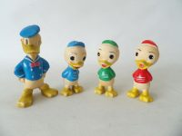 Vintage Disney Figurines Donald Duck Louie Huey Louie Dewey