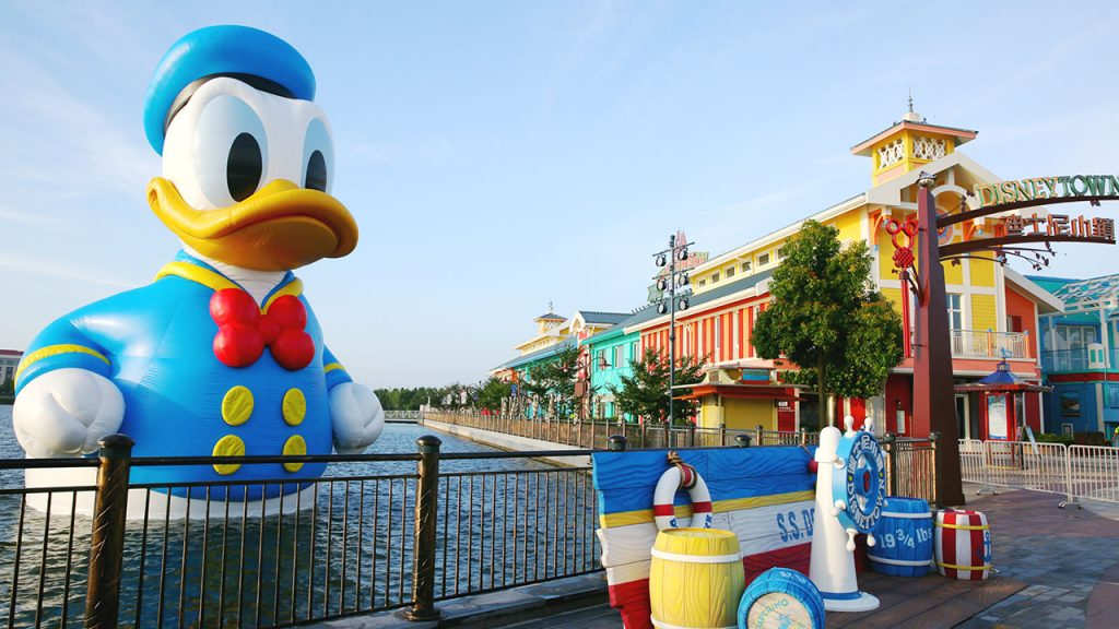 Have You Spotted This Giant Donald Duck at Shanghai Disney Resort?