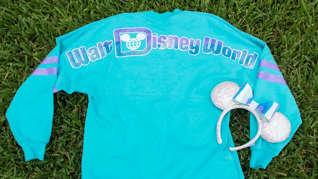 Iridescent Walt Disney World Spirit Jersey and Minnie Mouse Iridescent Ear Headband from World of Disney (Disney Springs Marketplace)