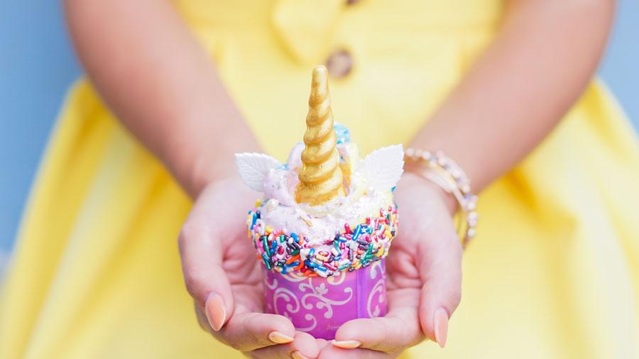 Iridescent Unicorn Cupcake at Disneyland Resort