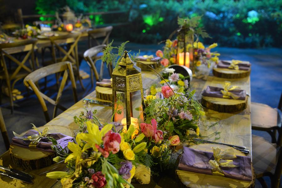 Detailed Table Settings For Your 'Tangled'-Inspired Milestone Celebration