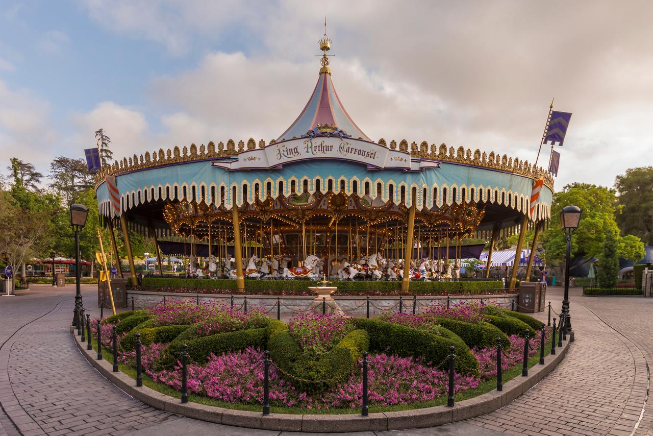 King Arthur's Carousel in Fantasyland at Disneyland park