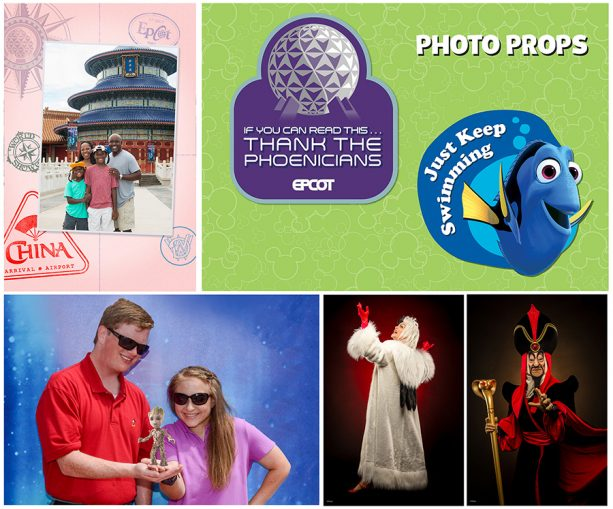 Photopass photo opportunities at Epcot