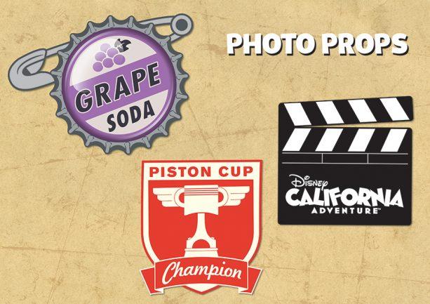 Disney California Adventure props for Photopass Day