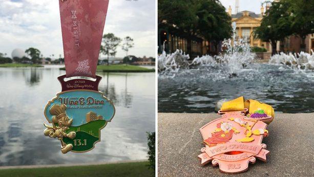 2018 Disney Wine & Dine Half Marathon Weekend Medals