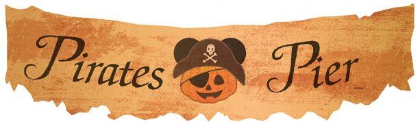 Pirates Pier at Halloween Time at the Disneyland Resort