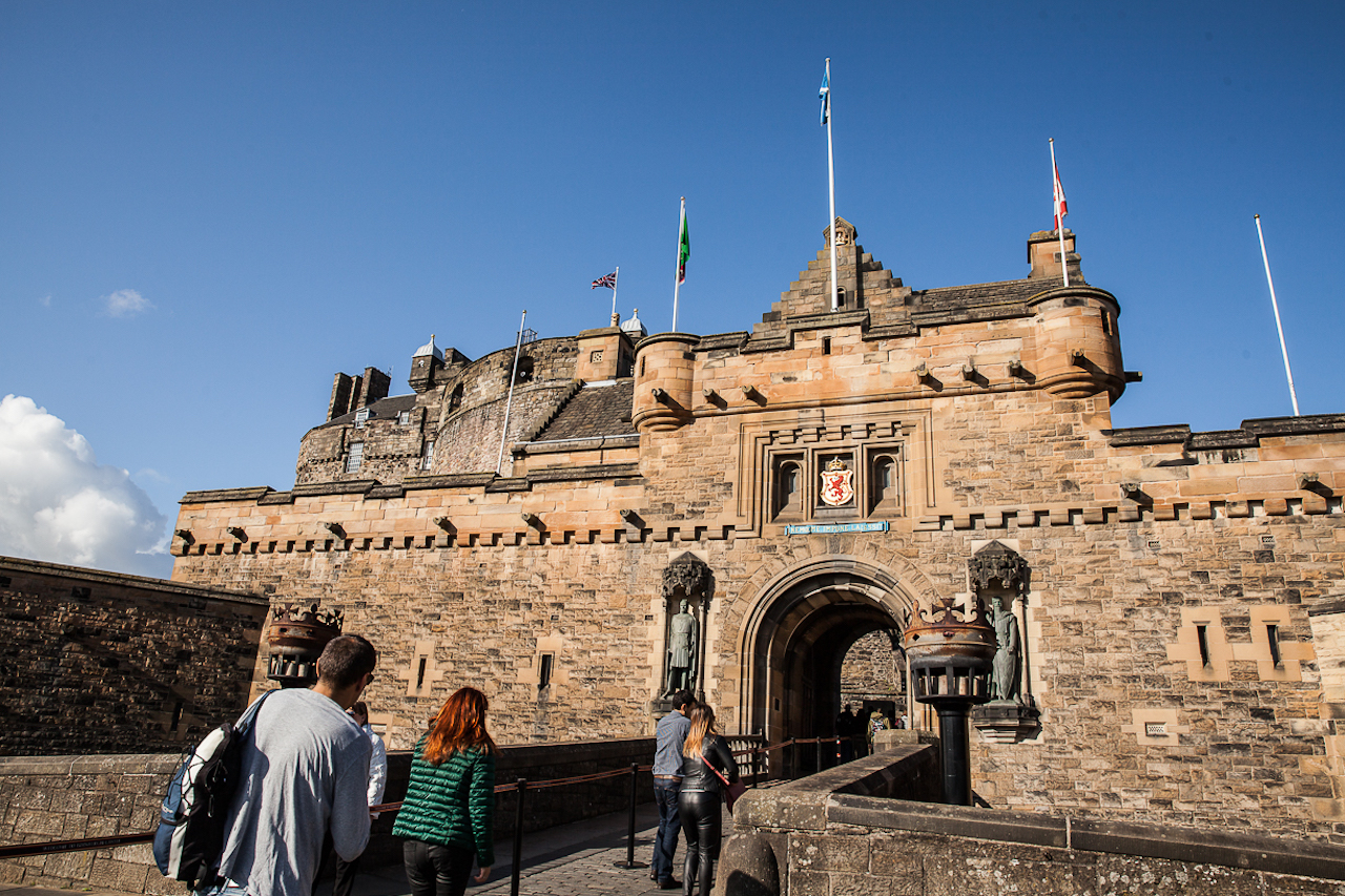 Princess Merida Inspires Disney Cruise Line Guests at Scotland's Edinburgh Castle