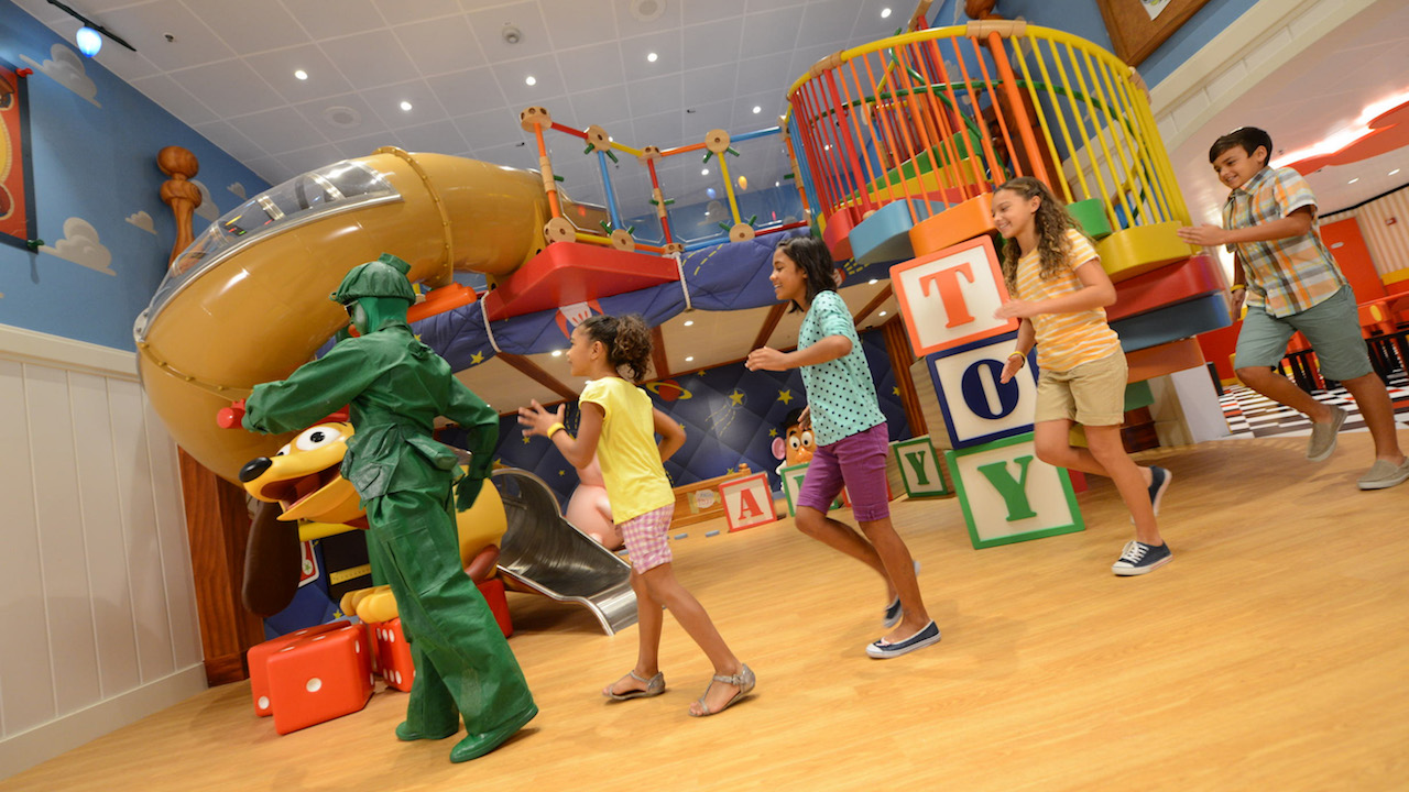 Toy Story Boot Camp in Andy's Room, a new multi-level youth space on the Disney Magic