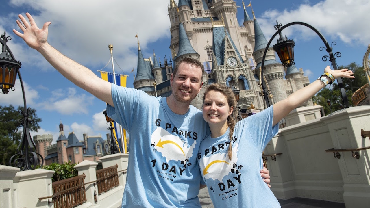 Tennessee Couple Spends Magical Day Visiting All Six Disney Theme Parks in the U.S.