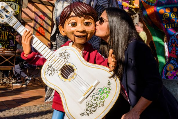 Salma Hayek Enjoys A Wickedly Wonderful Halloween at Disneyland Paris