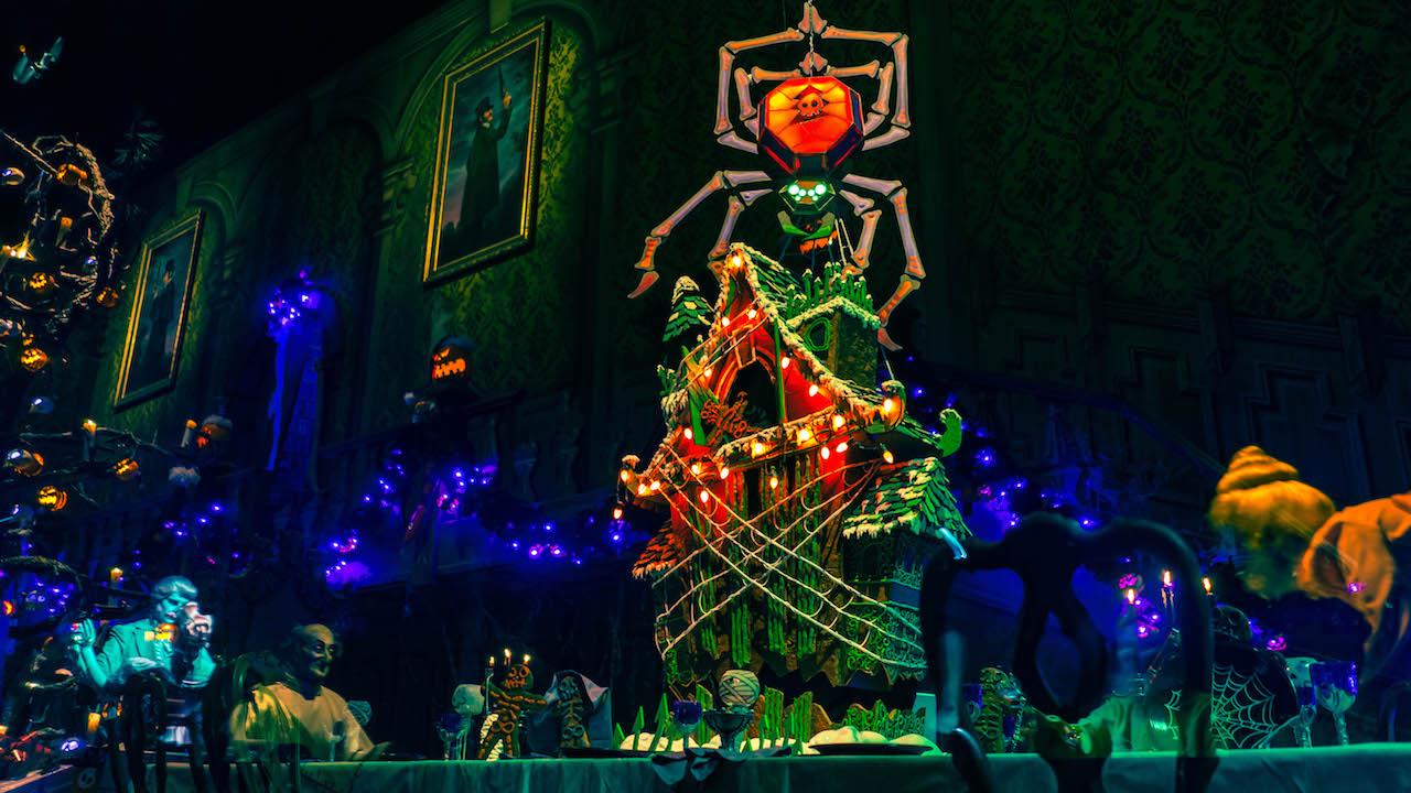 Haunted Mansion Holiday Gingerbread Display at Disneyland Park