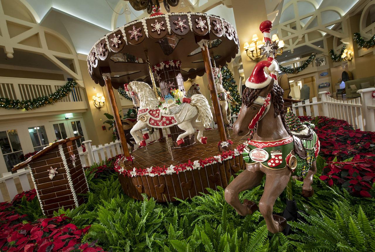 2018 Holiday Gingerbread Display at Disney's Yacht Club Resort