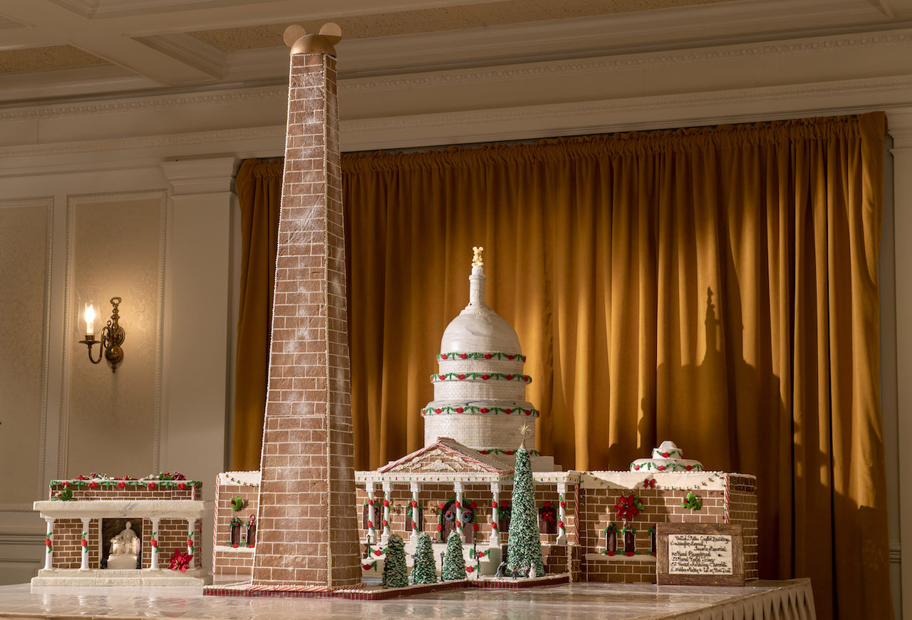 2018 Holiday Gingerbread Display at The American Adventure at Epcot