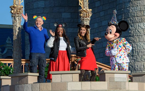 Mickey Mouse Marks Milestone With 90-Character Gathering at Magic Kingdom Park on ABC's Good Morning America