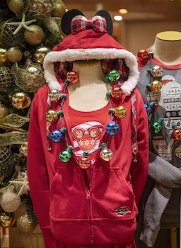 Disney Cruise Line  zip-up sweatshirt complete with flannel hood and built-in Minnie ears