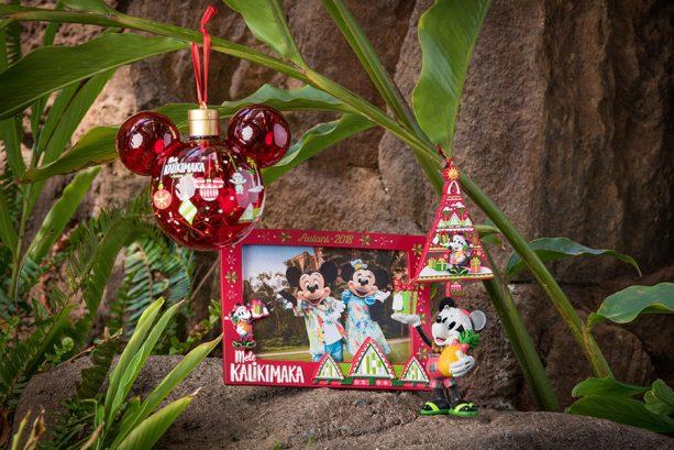 Disney Hawaiian iconography with the Mele Kalikimaka tagline