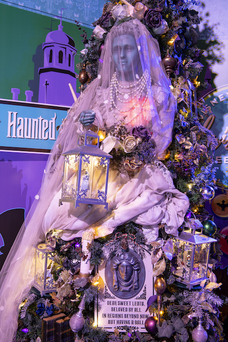 Haunted Mansion Tree on The Disney Springs Christmas Tree Trail