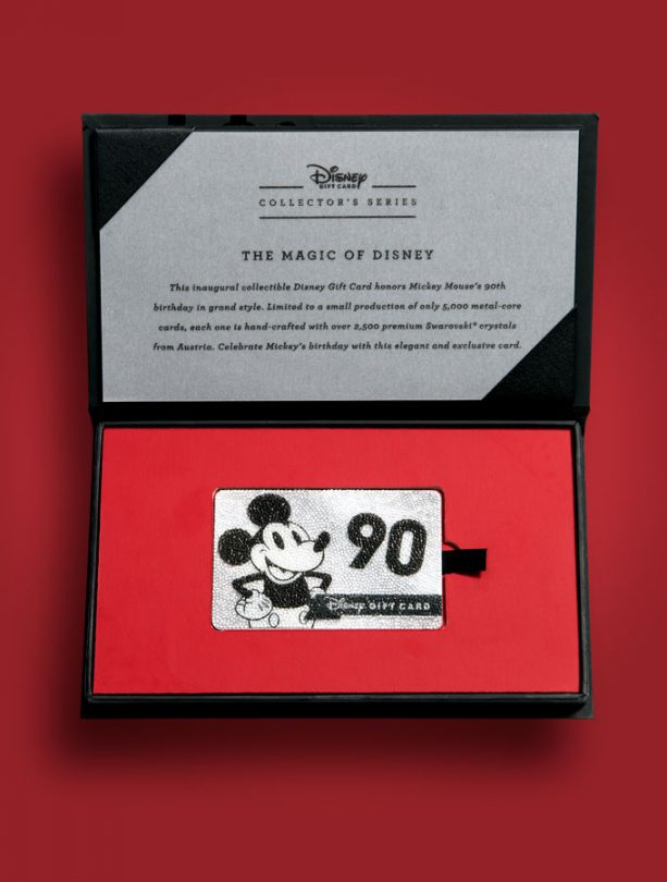 Disney Gift Card Collector's Series Honors 90 Years of Mickey Mouse