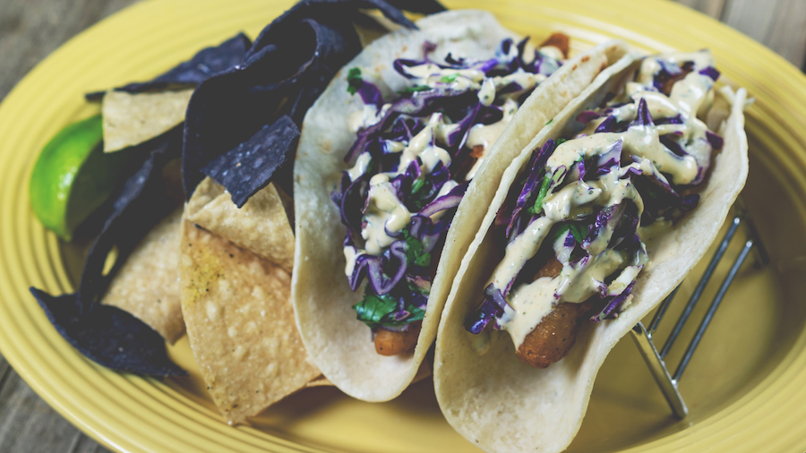 Purple Fish Tacos at Rancho del Zocalo at Disneyland Park