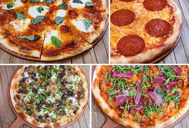 Artisanal pizzas at White Water Snacks