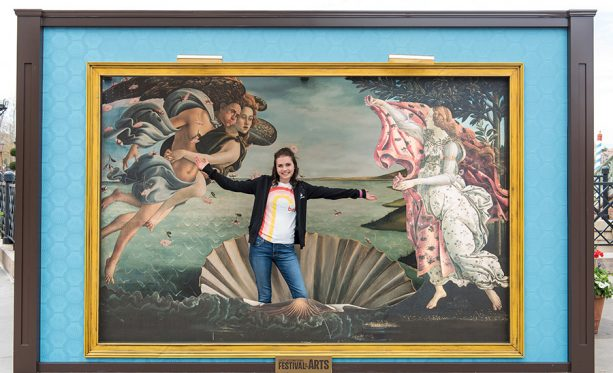 step inside an Artful Photo Op iconic painting at the 2019 Epcot International Festival of the Arts