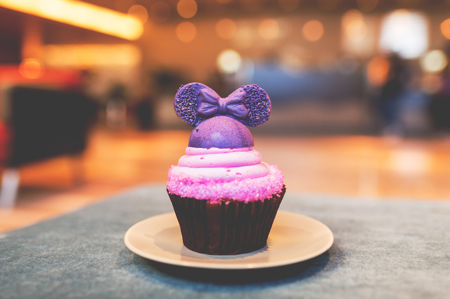 Purple Contempo Cupcake at Contempo Café at Disney's Contemporary Resort