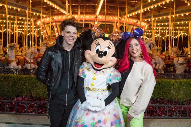 Singer Halsey and Boyfriend Yungblud Enjoy a Date Night at Disneyland Resort