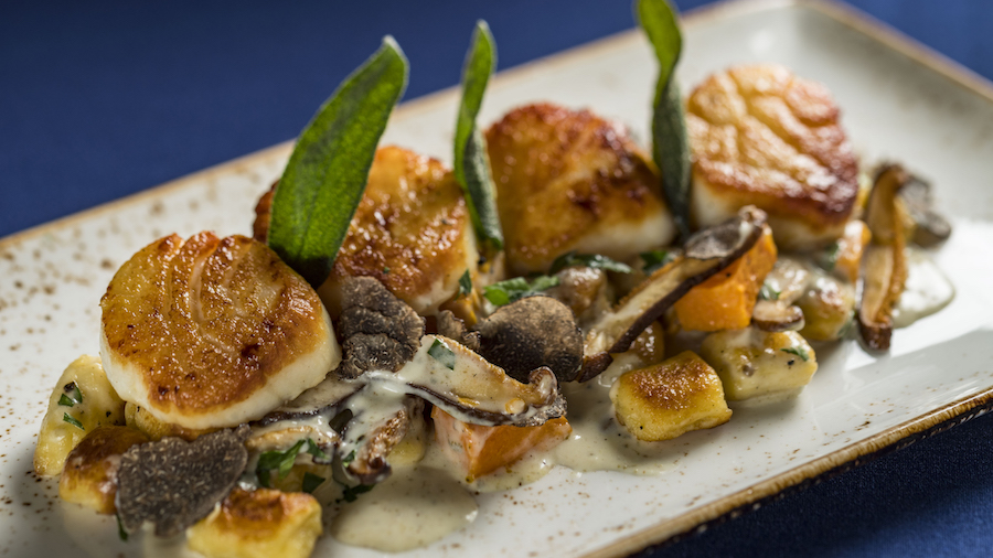 Pan-seared Georges Bank Day Boat Scallops at Narcoossee's at Disney's Grand Floridian Resort & Spa
