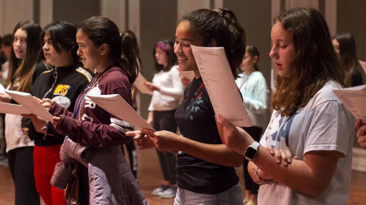 Disney Broadway Magic workshop students