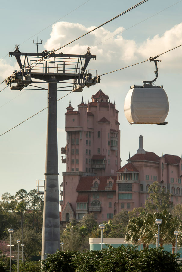 Disney Skyliner Gondolas Make First Test Runs Between Disney's Caribbean Beach Resort, Disney's Hollywood Studios