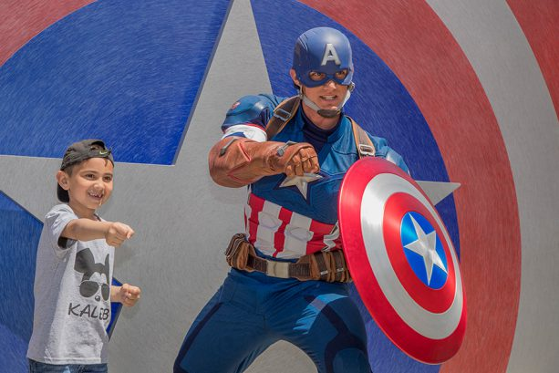 Captain America, at Hollywood Land, Disney California Adventure park