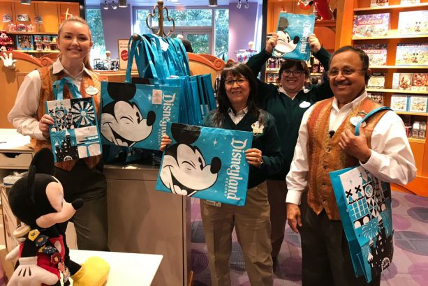 Reusable shopping bags at Disneyland Resort