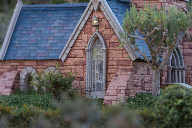church in the village from Alice in Wonderland