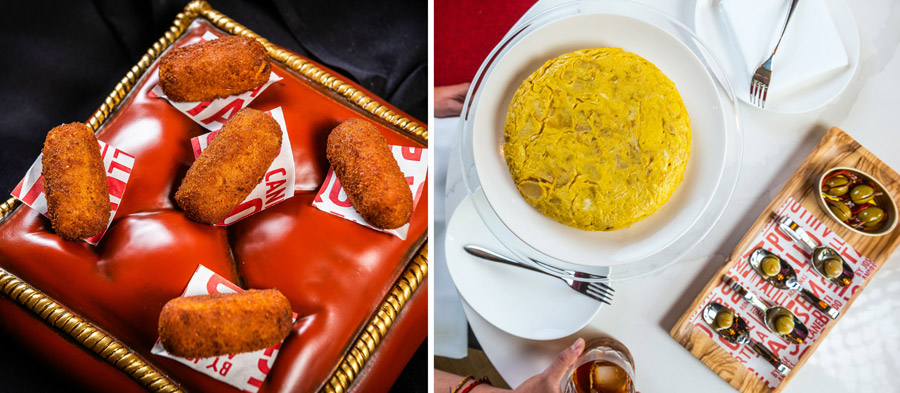 Traditional Chicken Fritters and Traditional Spanish Omelette from Jaleo at Disney Springs
