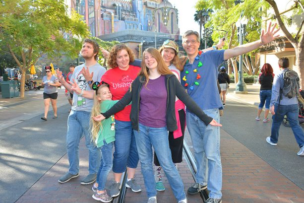 Tony's Family at Guardians of the Galaxy