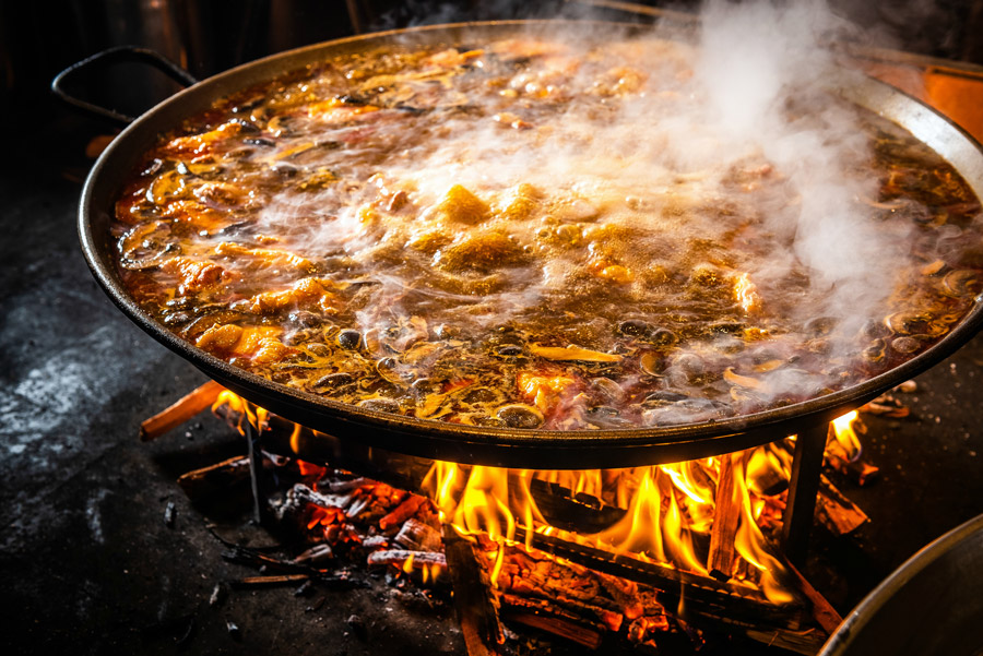 Wood-fired Paella Pit at Jaleo at Disney Springs