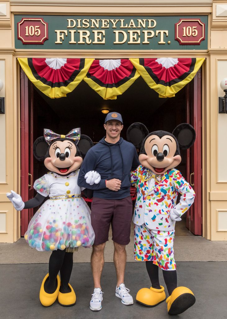 New Orleans Saints Quarterback Drew Brees and Family Visit Disneyland Resort
