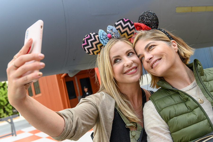 Friends Sarah Michelle Gellar and Selma Blair Celebrate Decades of Friendship at Disneyland Resort