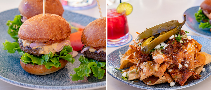 Kobe Beef Sliders and Spotlight Nachos at Lamplight Lounge at Disney California Adventure Park