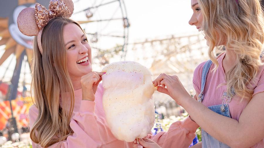 Pineapple-Jalapeño Cotton Candy from the Disney California Adventure Food & Wine Festival