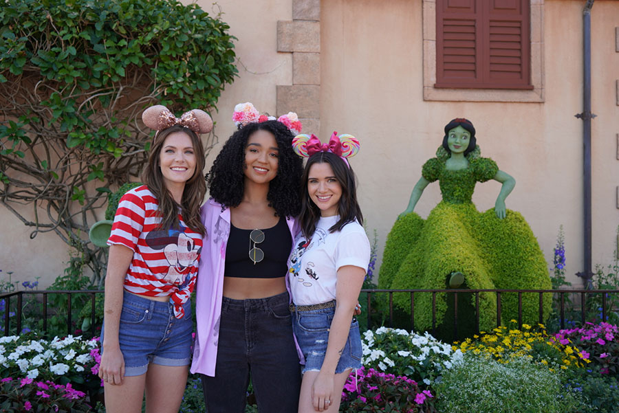Katie, Aisha, and Meghann at Walt Disney World Resort